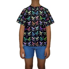 Toys pattern Kids  Short Sleeve Swimwear