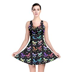 Toys pattern Reversible Skater Dress