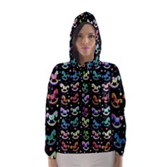Toys pattern Hooded Wind Breaker (Women)