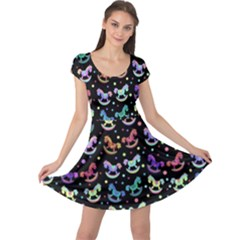 Toys pattern Cap Sleeve Dresses
