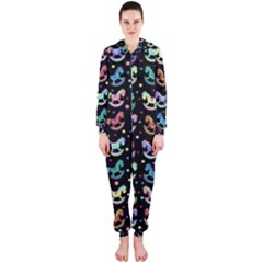 Toys pattern Hooded Jumpsuit (Ladies)