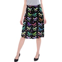 Toys pattern Midi Beach Skirt