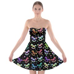 Toys pattern Strapless Bra Top Dress