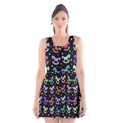 Toys pattern Scoop Neck Skater Dress