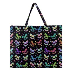 Toys pattern Zipper Large Tote Bag