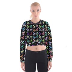 Toys pattern Women s Cropped Sweatshirt