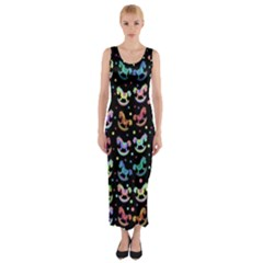 Toys pattern Fitted Maxi Dress