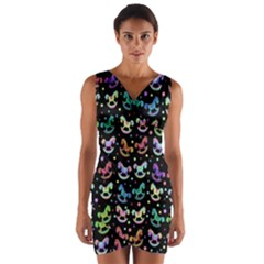 Toys pattern Wrap Front Bodycon Dress