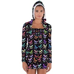 Toys pattern Women s Long Sleeve Hooded T-shirt