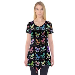 Toys pattern Short Sleeve Tunic