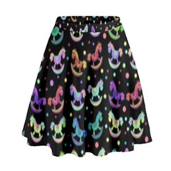 Toys pattern High Waist Skirt