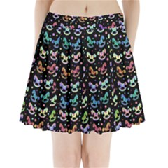 Toys pattern Pleated Mini Skirt