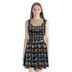 Toys pattern Split Back Mini Dress