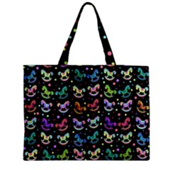 Toys pattern Medium Zipper Tote Bag