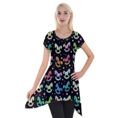 Toys pattern Short Sleeve Side Drop Tunic