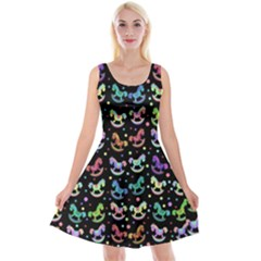 Toys pattern Reversible Velvet Sleeveless Dress