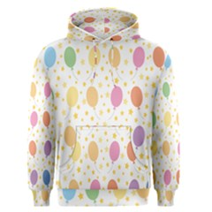 Balloon Star Rainbow Men s Pullover Hoodie by Mariart