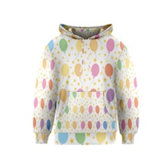 Balloon Star Rainbow Kids  Pullover Hoodie by Mariart