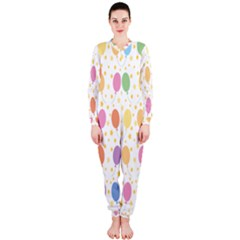 Balloon Star Rainbow Onepiece Jumpsuit (ladies)  by Mariart