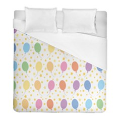 Balloon Star Rainbow Duvet Cover (full/ Double Size) by Mariart