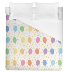 Balloon Star Rainbow Duvet Cover (queen Size)