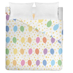 Balloon Star Rainbow Duvet Cover Double Side (queen Size) by Mariart