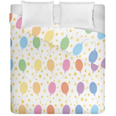 Balloon Star Rainbow Duvet Cover Double Side (california King Size) by Mariart