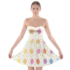 Balloon Star Rainbow Strapless Bra Top Dress by Mariart