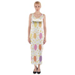Balloon Star Rainbow Fitted Maxi Dress
