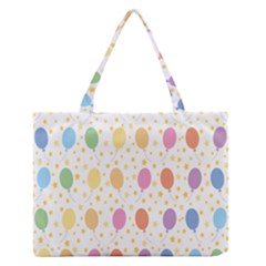 Balloon Star Rainbow Medium Zipper Tote Bag by Mariart