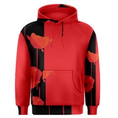 Flower Floral Red Back Sakura Men s Pullover Hoodie by Mariart