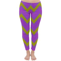 Zig Zags Pattern Classic Winter Leggings by Valentinaart