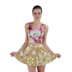 Flower Floral Star Sunflower Grey Mini Skirt by Mariart