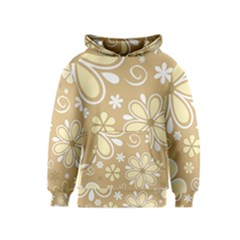 Flower Floral Star Sunflower Grey Kids  Pullover Hoodie by Mariart