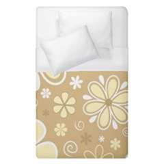 Flower Floral Star Sunflower Grey Duvet Cover (single Size) by Mariart