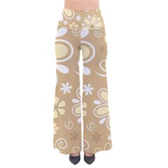 Flower Floral Star Sunflower Grey Pants by Mariart