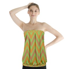 Zig Zags Pattern Strapless Top