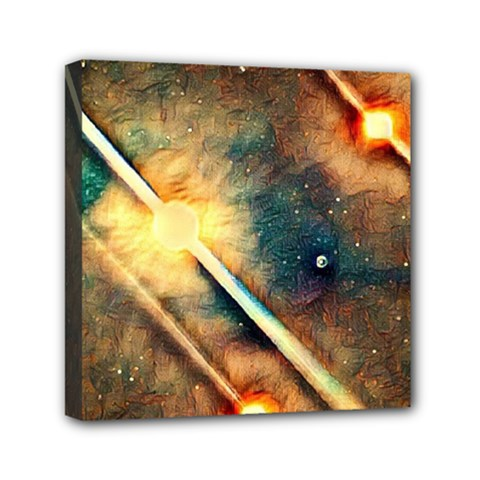 Light Space Mini Canvas 6  X 6  by DeneWestUK