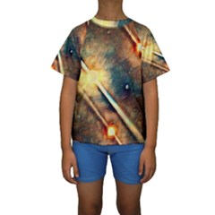 Light Space Kids  Short Sleeve Swimwear by DeneWestUK