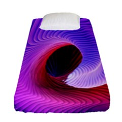 Digital Art Spirals Wave Waves Chevron Red Purple Blue Pink Fitted Sheet (single Size) by Mariart