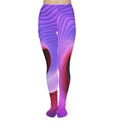 Digital Art Spirals Wave Waves Chevron Red Purple Blue Pink Women s Tights