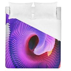 Digital Art Spirals Wave Waves Chevron Red Purple Blue Pink Duvet Cover (queen Size) by Mariart