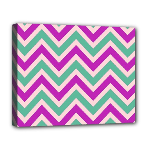 Zig Zags Pattern Deluxe Canvas 20  X 16   by Valentinaart