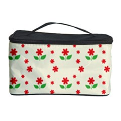 Flower Floral Sunflower Rose Star Red Green Cosmetic Storage Case by Mariart