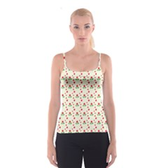 Flower Floral Sunflower Rose Star Red Green Spaghetti Strap Top by Mariart