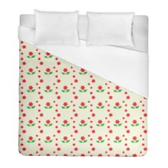 Flower Floral Sunflower Rose Star Red Green Duvet Cover (full/ Double Size) by Mariart