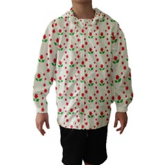 Flower Floral Sunflower Rose Star Red Green Hooded Wind Breaker (kids) by Mariart