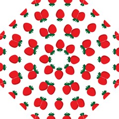Fruit Strawberries Red Green Folding Umbrellas by Mariart
