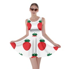 Fruit Strawberries Red Green Skater Dress by Mariart