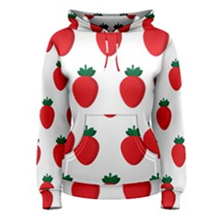 Fruit Strawberries Red Green Women s Pullover Hoodie by Mariart
